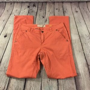 Anthropologie  Orange Fit Hyphen Linen Pants